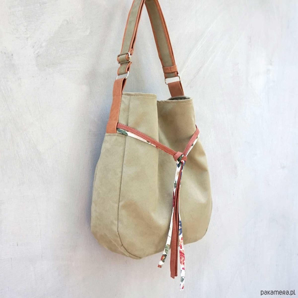 c6fba99316264 SIMPLY BAG - duża torba worek - oliwka - torby na ramię - damskie -  Pakamera.pl