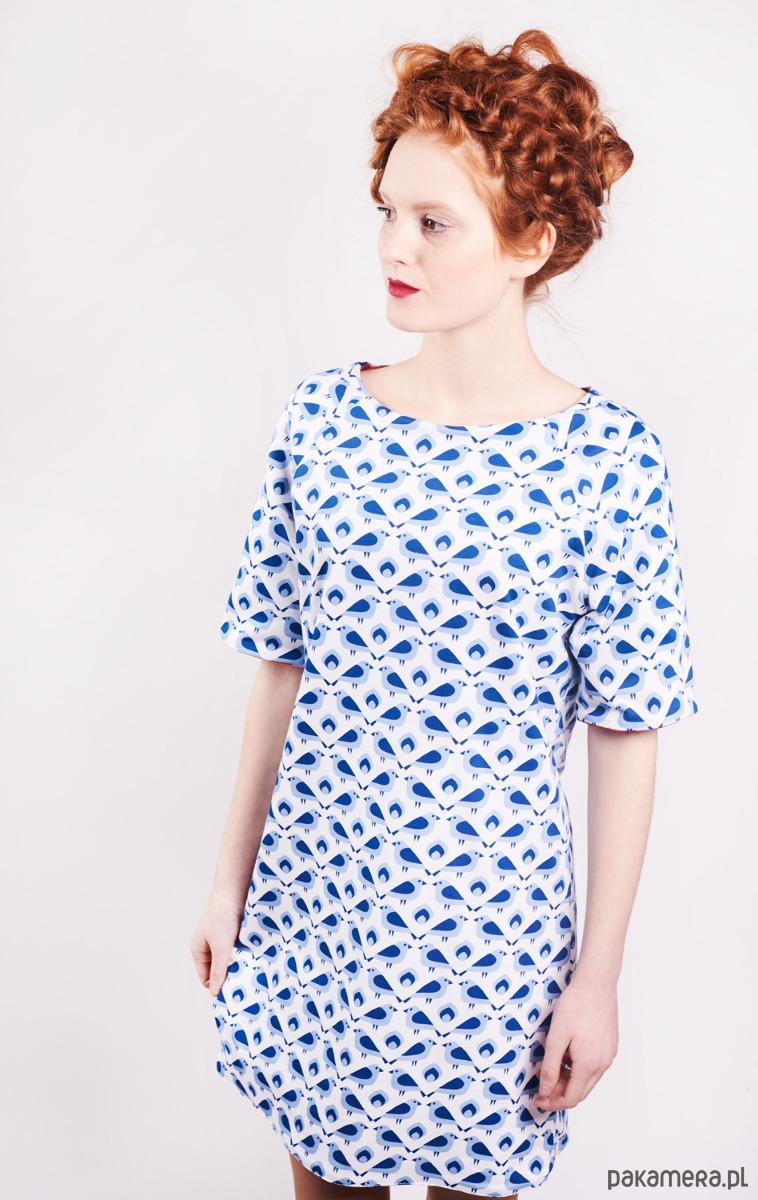 Sukienka Wróbel z kieszeniami