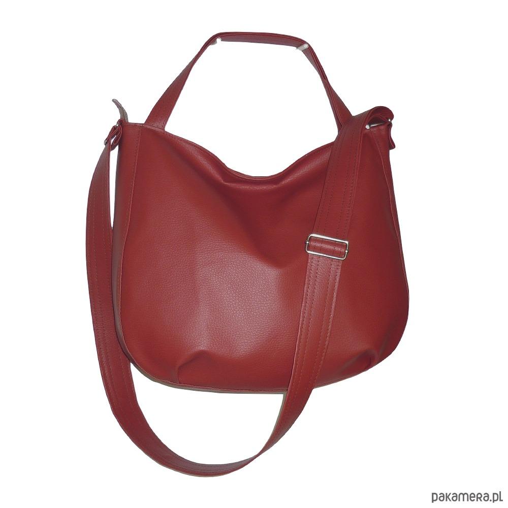 a5935da476643 torby na ramię - damskie-Bordowa torba 3w1