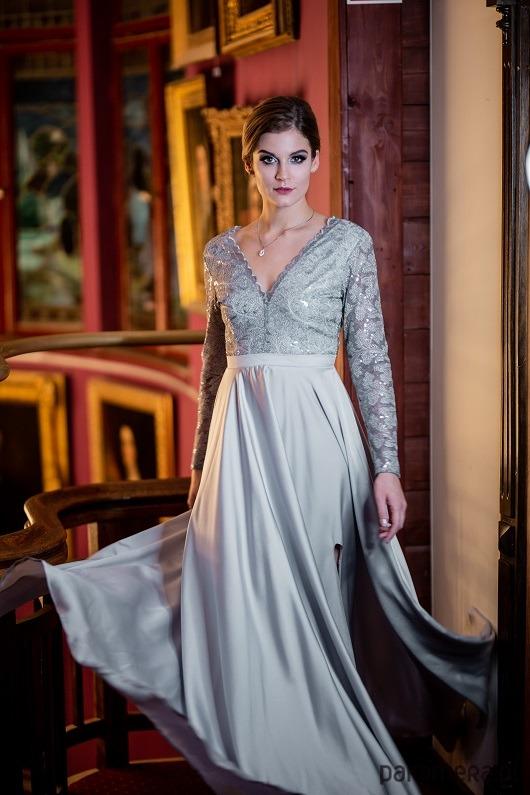 Sukienka szara balowa SMW207