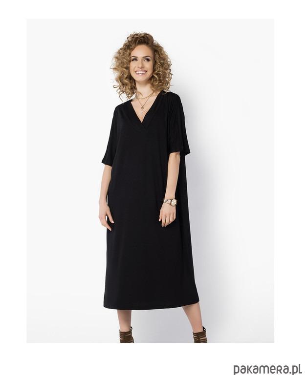 e135148da9 Sukienka OVERSIZE midi kimono czarna - sukienki - midi - Pakamera.pl