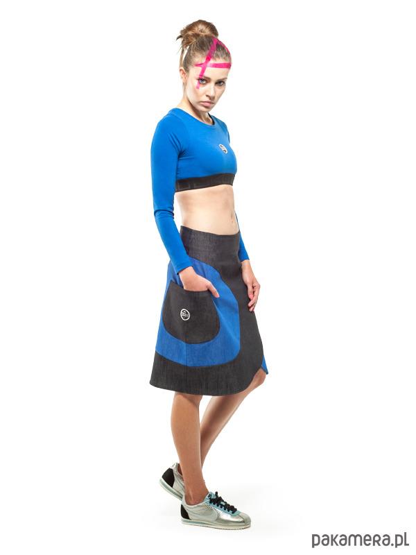 2f5b84b5 Carina Skirt (Blue) - Pakamera.pl