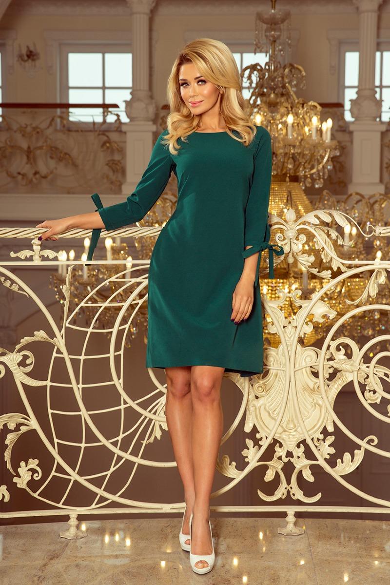 Sukienka wizytowa ALLEY zieleń butelkowa