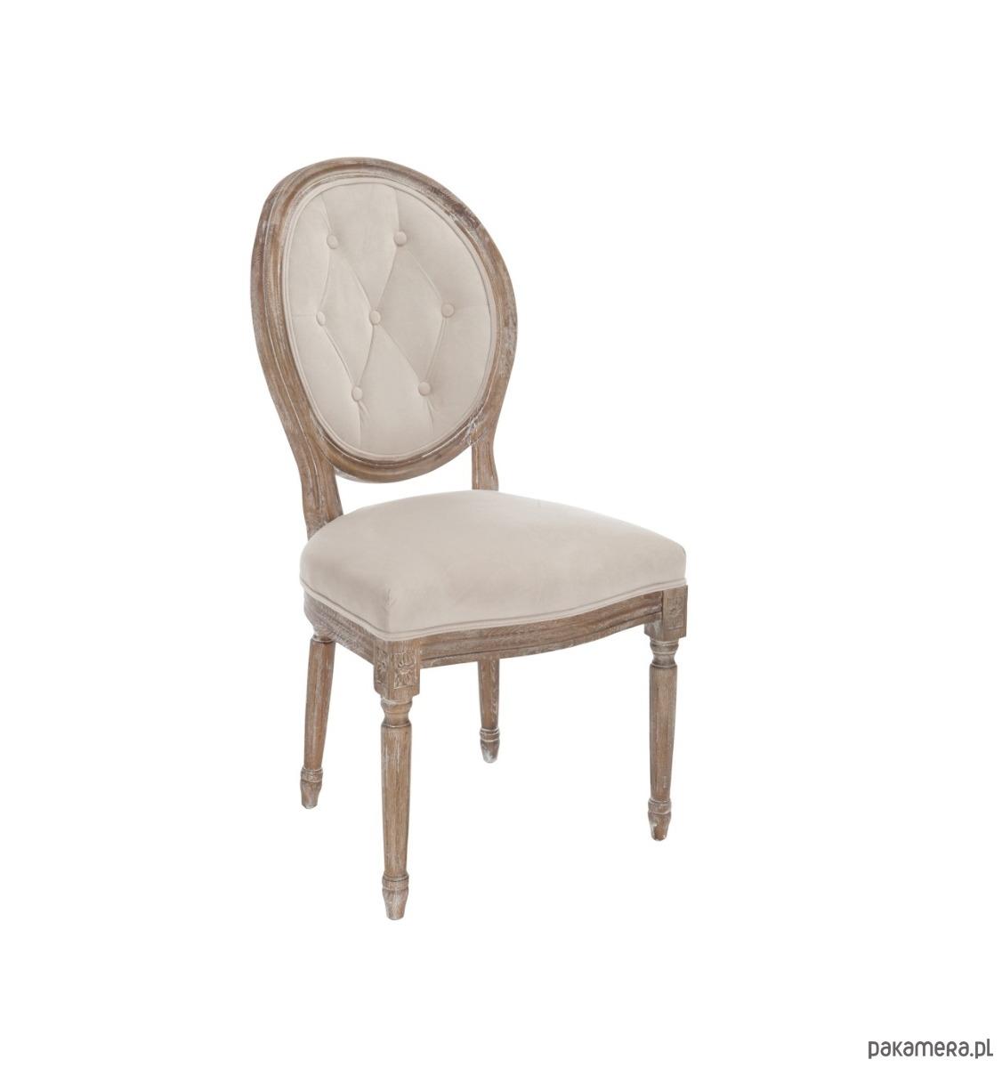 Krzesło Drewniane Versailles Beż 89x44x57 Cm Pakamerapl
