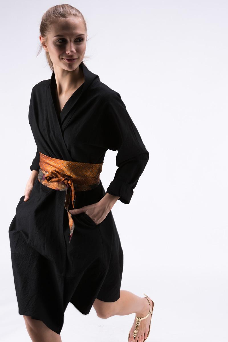 Sukienka- Płaszcz POLARIS Czarna