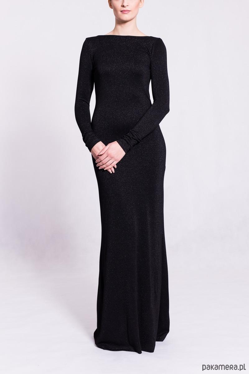 052baaa8 D083 sukienka maxi z dekoltem na plecach - Pakamera.pl