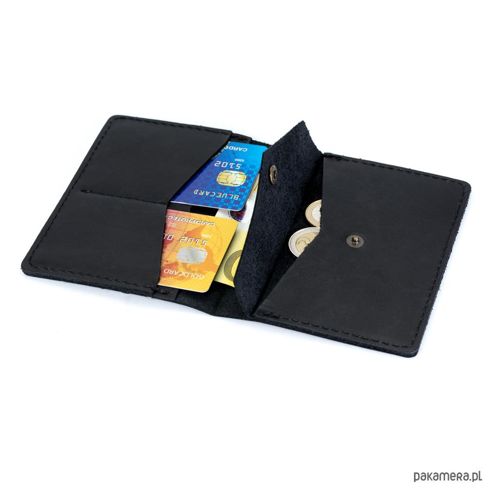 9e829cda7ab29 akcesoria - portfele-Cienki, skórzany portfel CECHINI na karty czarny