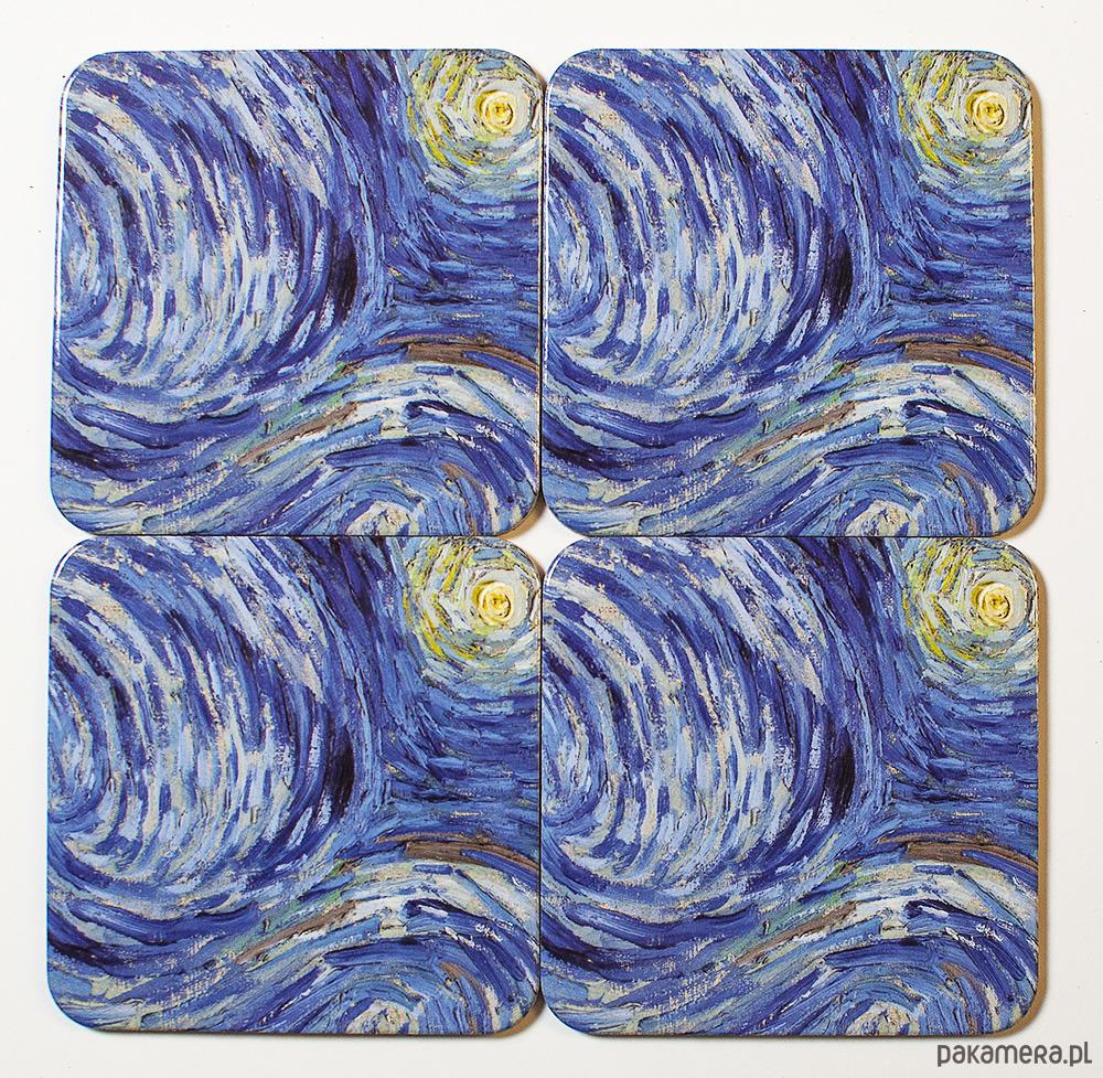 Zestaw 4 Małych Podkładek Pod Kubki Van Gogh Pakamerapl