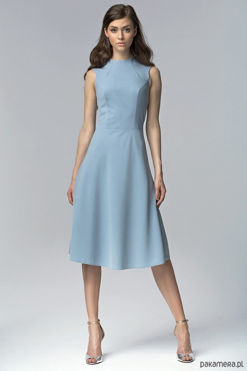 d84d70e488 Elegancka sukienka MIDI s62 - niebieski - sukienki - midi - Pakamera.pl