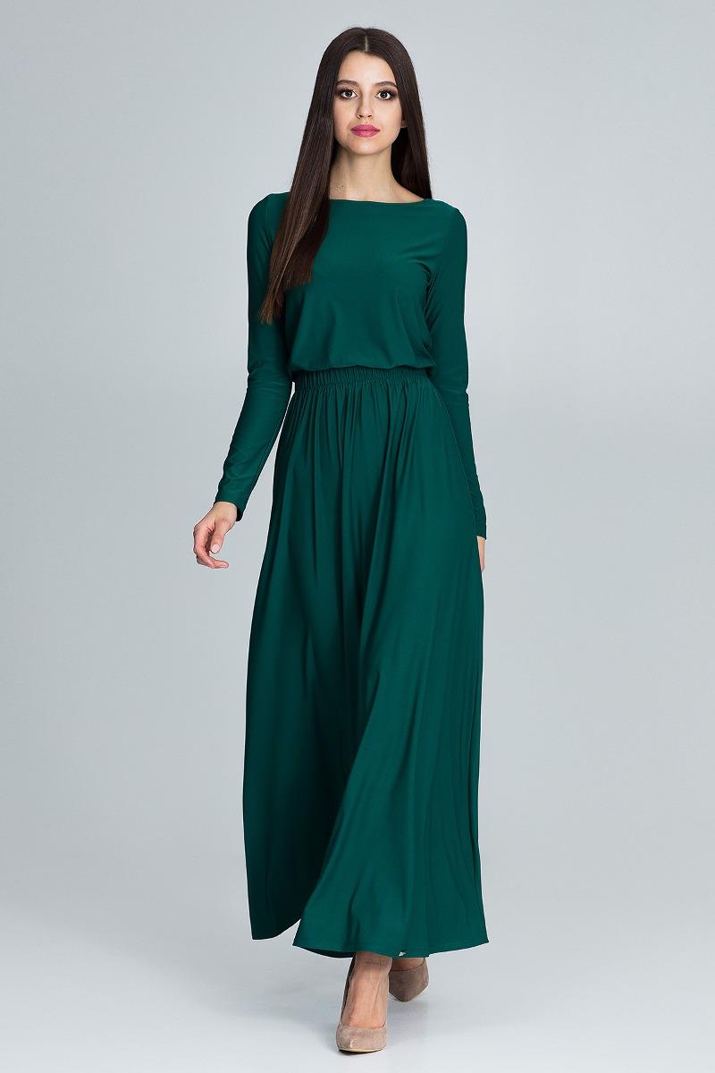 Sukienka maxi m604 zielony