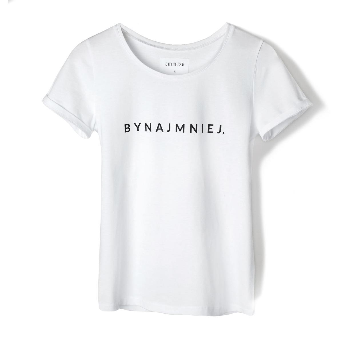 T-shirt biały BYNAJMNIEJ.