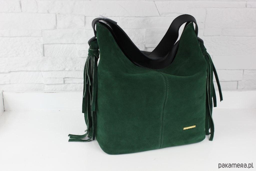 d125f73ded681 ZAMSZOWA Shopper boho butelkowa zieleń - torby na ramię - damskie ...