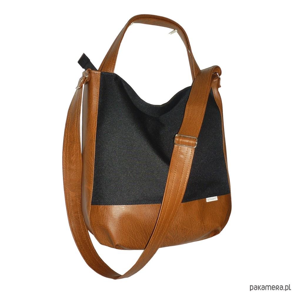 5605 ankate, duża czarna torba, czarny worek