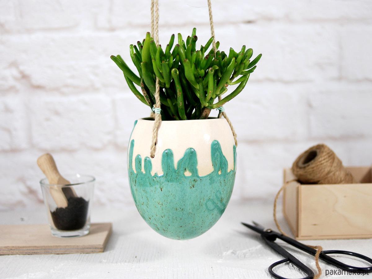 Ceramiczna Doniczka Wisząca Modern Pakamerapl