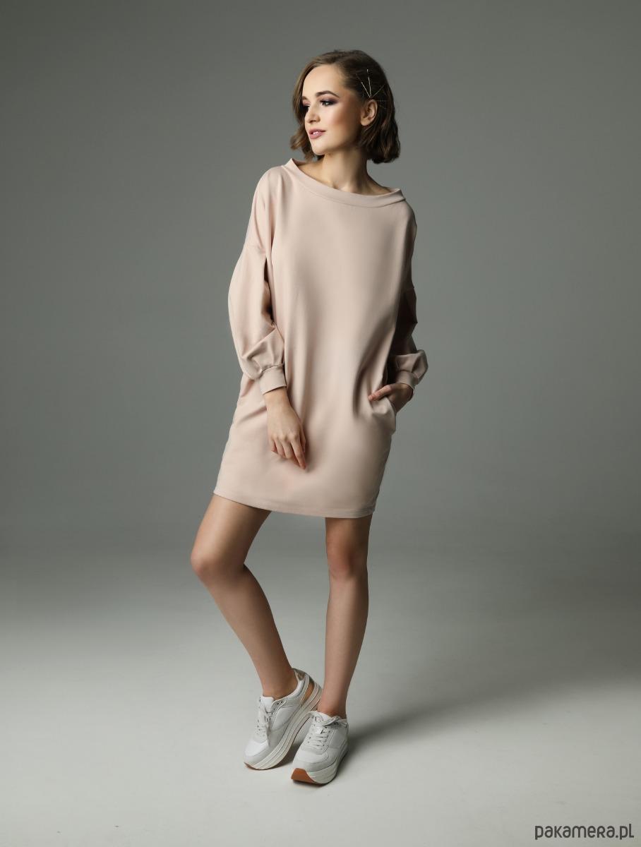 Sukienka Loose Louise - nude