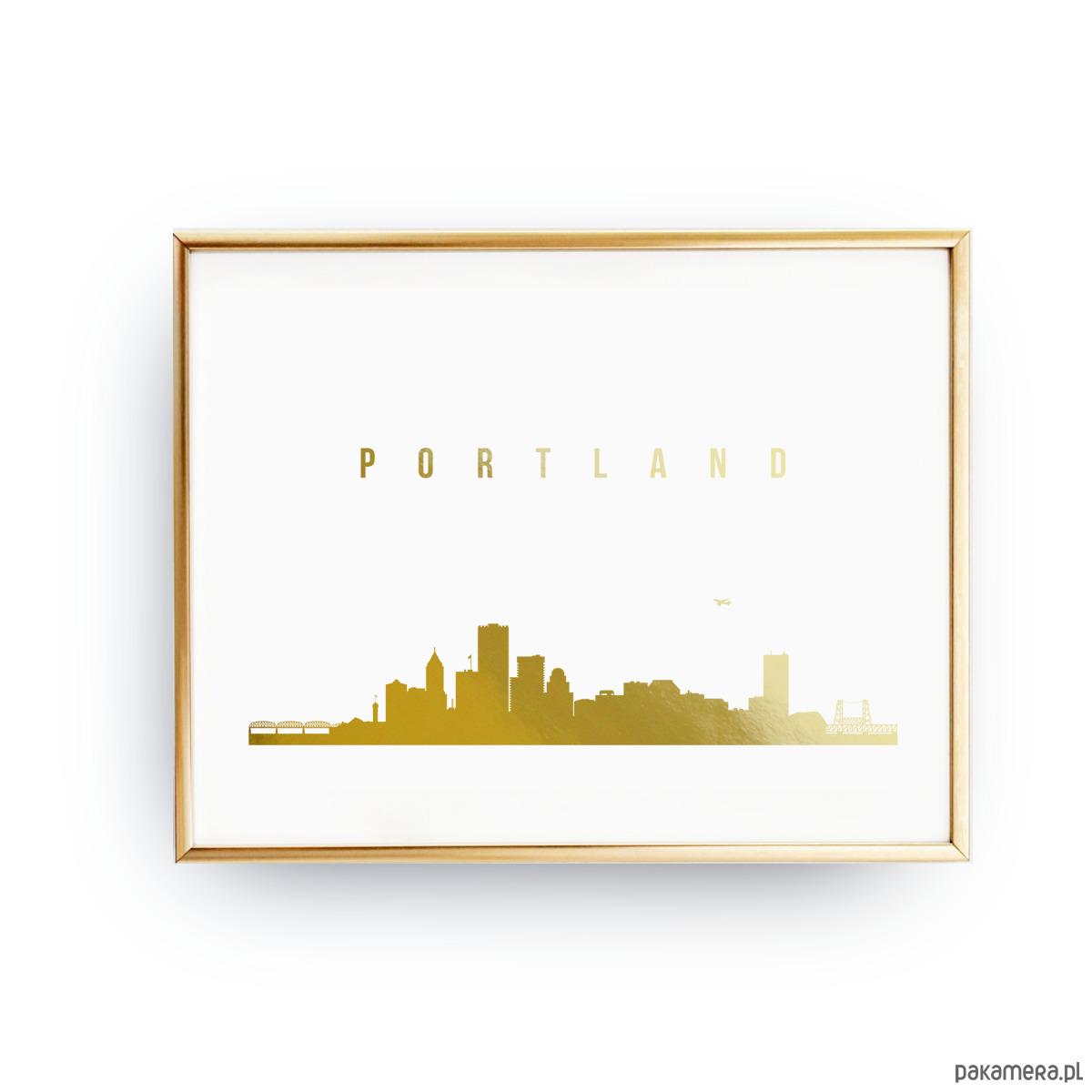 Plakat Portland Złoty Druk Pakamerapl