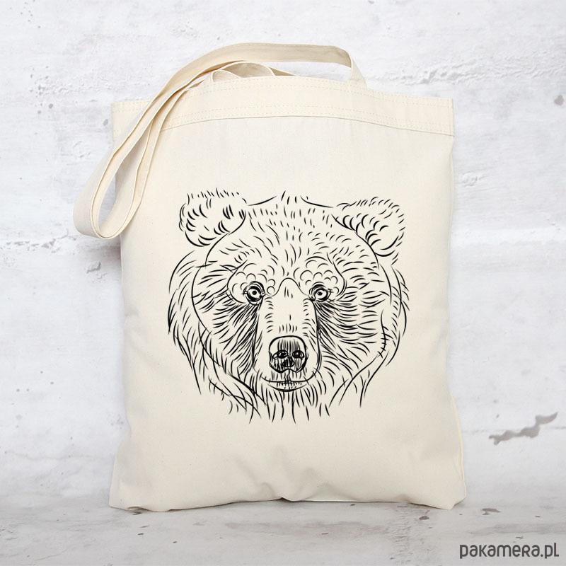 7aa30ff69c833 Eko torba na zakupy bawełniana NIEDŹWIEDŹ - torby na zakupy - damskie -  Pakamera.pl