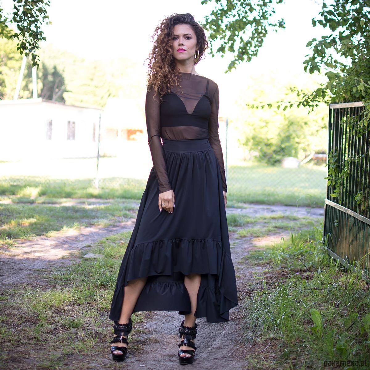 Natalia - spódnica z falbaną