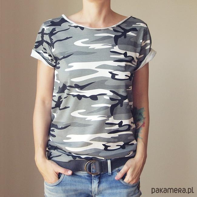 Tshirt szare moro Oversize S-XXL