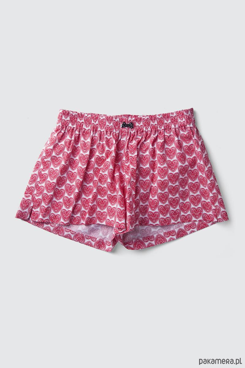7236c177f48a6f Spodenki do spania BOKSERKI damskie SERCA - Moda - bielizna - piżamy ...
