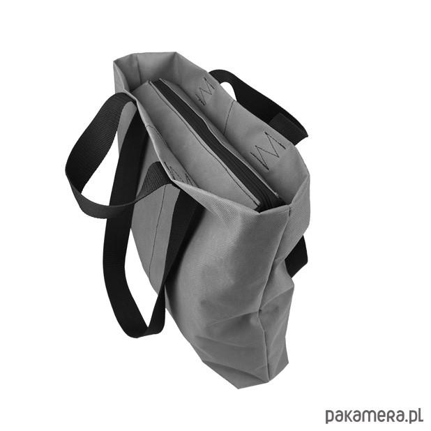c974ae1d71952 SHOPPER BAG 01 torba na ramię czarny zamek - torby na ramię - damskie -  Pakamera.pl