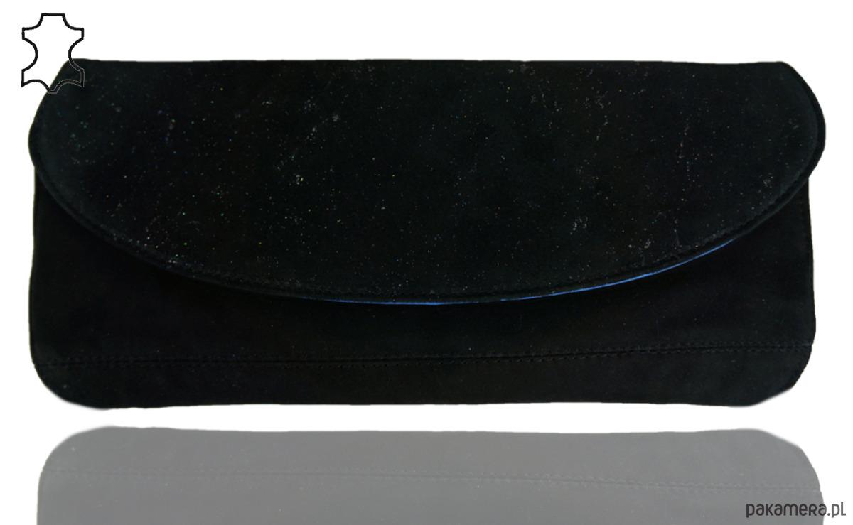 b02db6cc7cd23 Kopertówka skóra naturalna Czarna brokat - kopertówki - Pakamera.pl