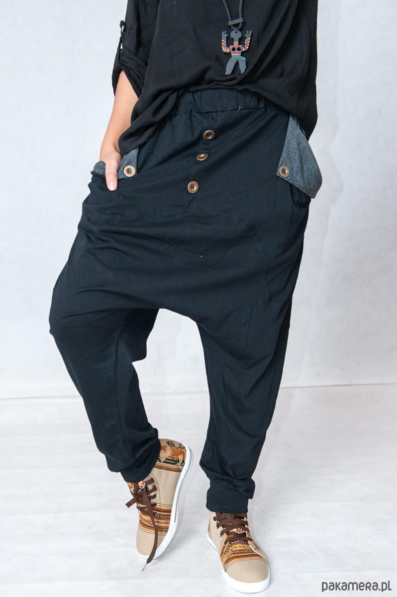 Shaggy baggy spodnie z niskim krokiem