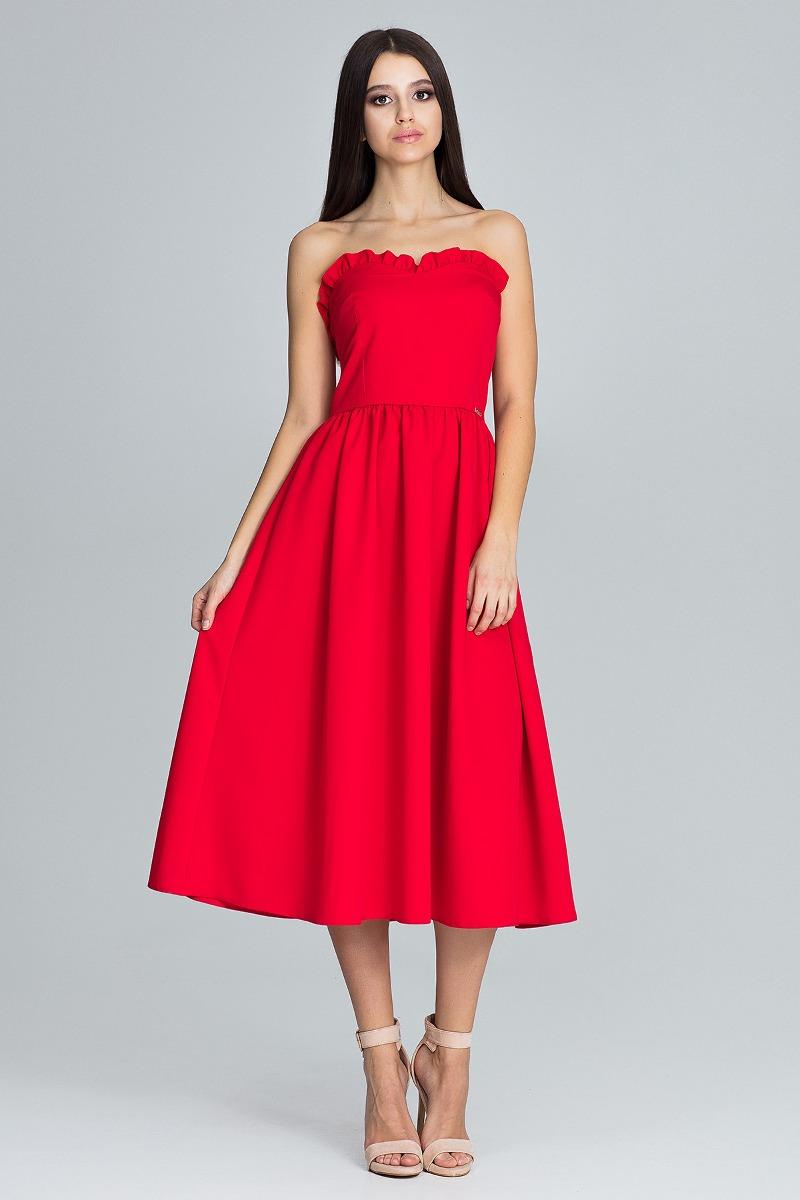 Sukienka midi m602czerwony