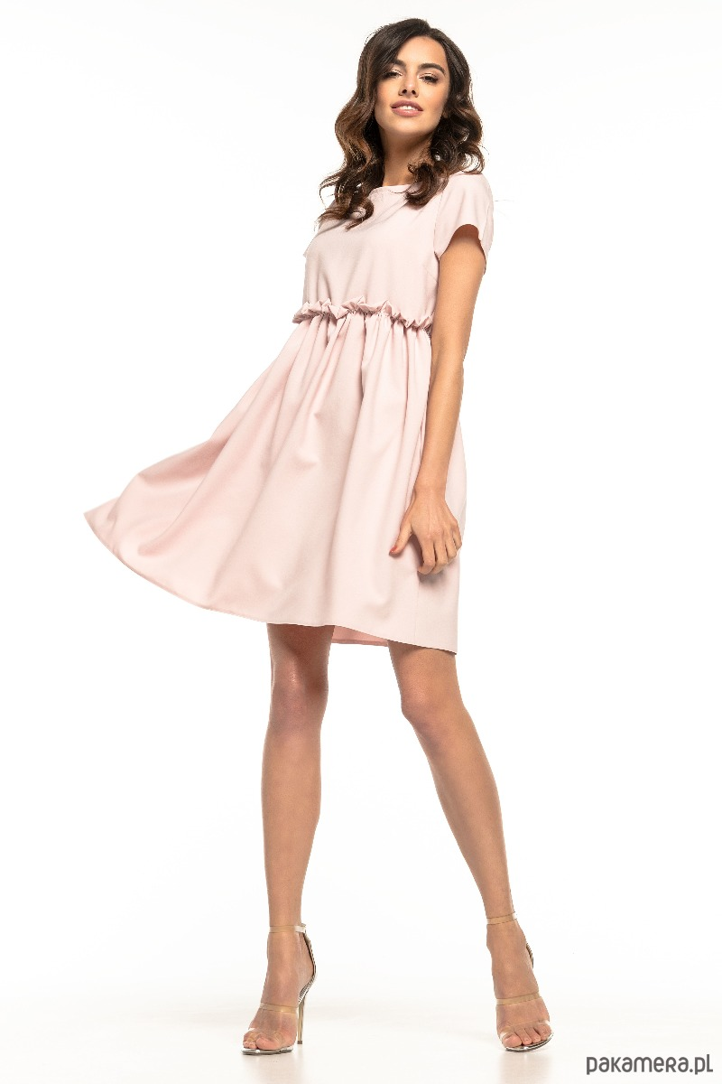 efdff79fdc sukienki - mini-Sukienka marszczona pod biustem