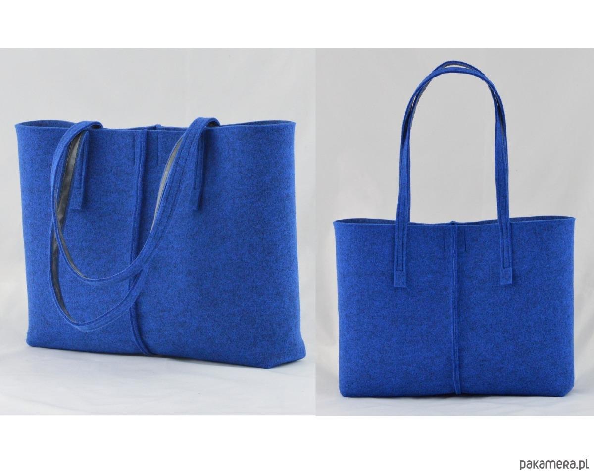 Duża Torebka Minimalistyczna Niebieska