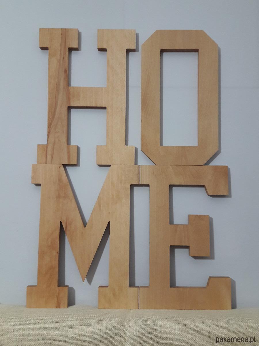 Komplet Litery Z Drewna Napis Home Na ściane Pakamerapl