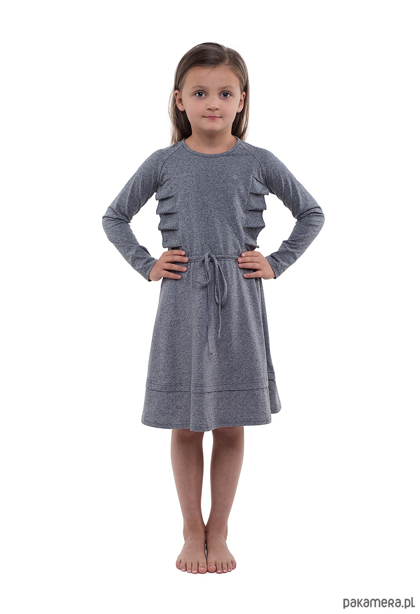 f0aa817ee6 Szara sukienka z falbankami - dziewczynka - sukienki - Pakamera.pl