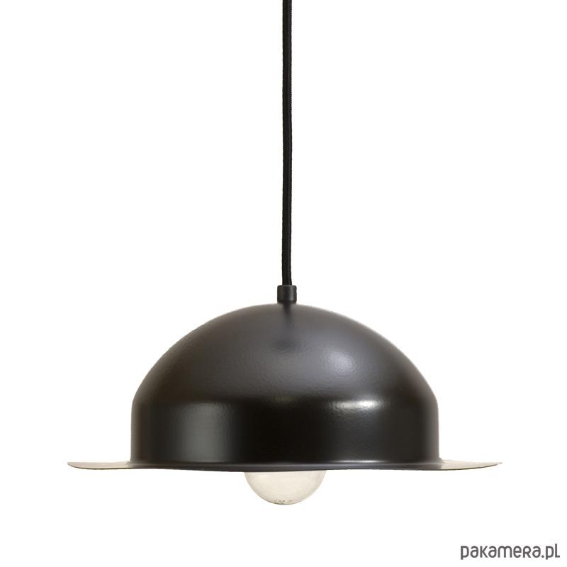 Lampa wisząca stalowa HAT czarna