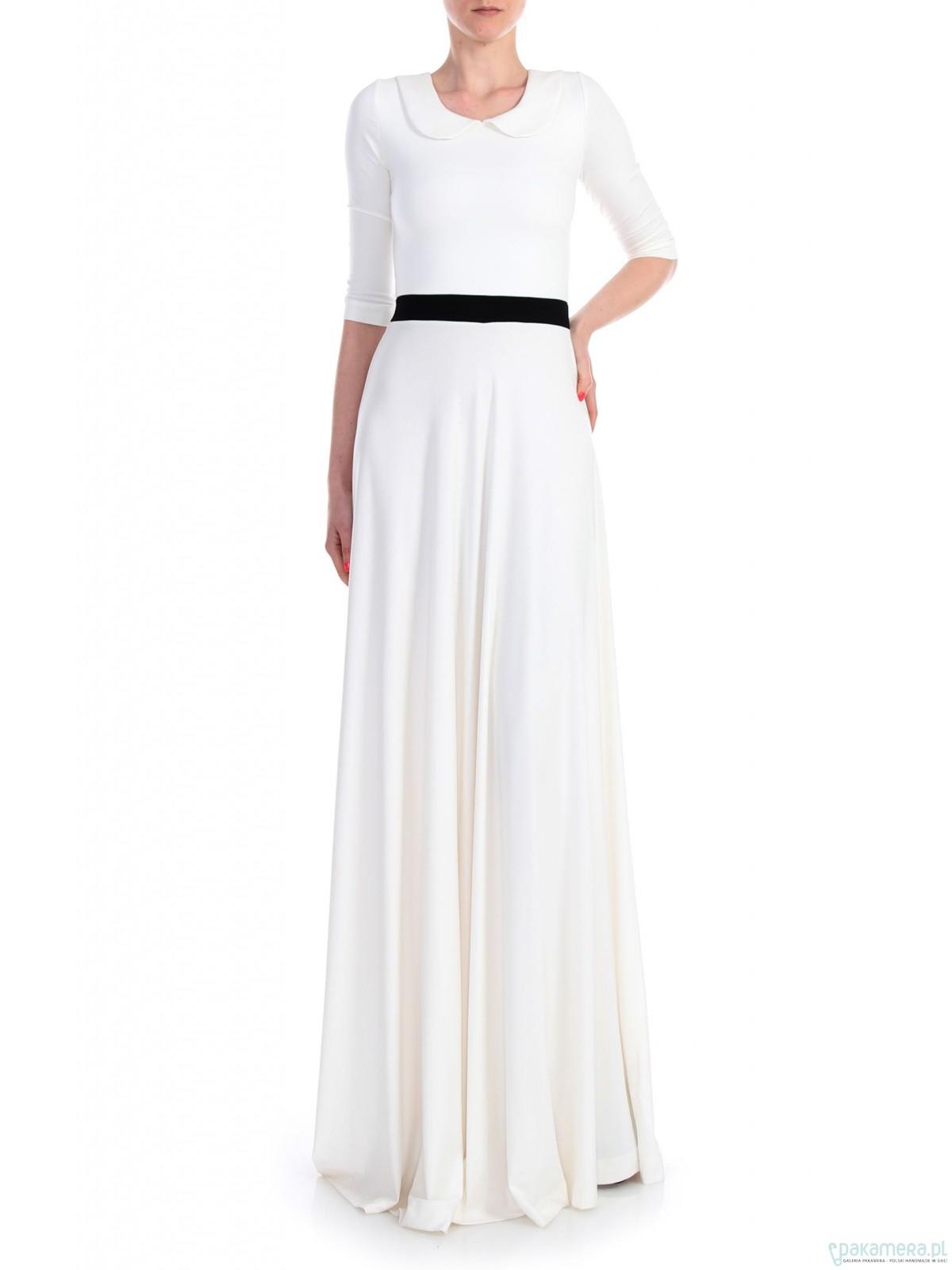 Sukienka ecru YY300023_RAL9016