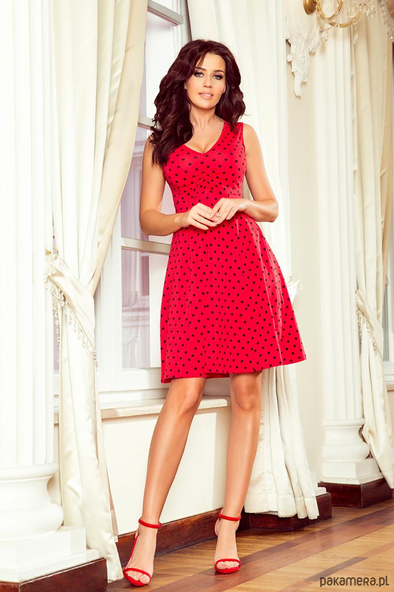 96ad314029 238-1 BETTY rozkloszowana sukienka z dekoltem - sukienki - midi ...