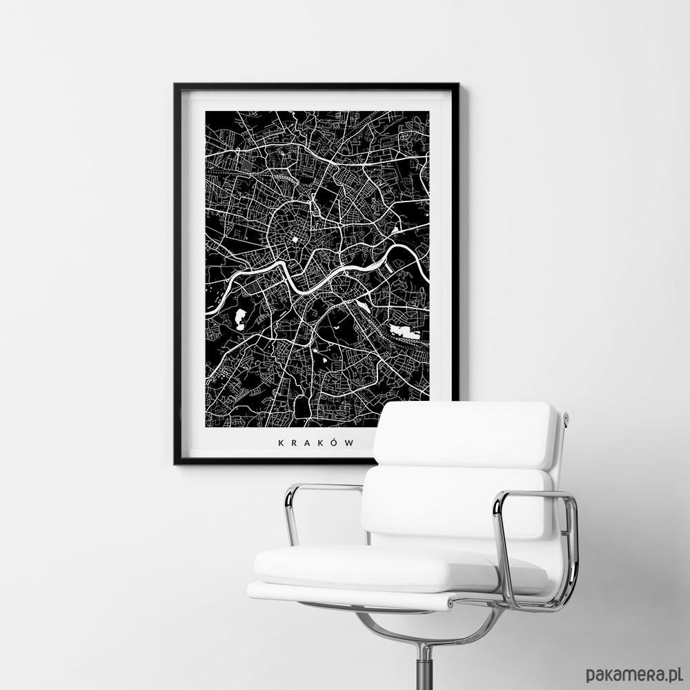 Kraków Plan Miasta Mapa Na Prezent Pakamerapl