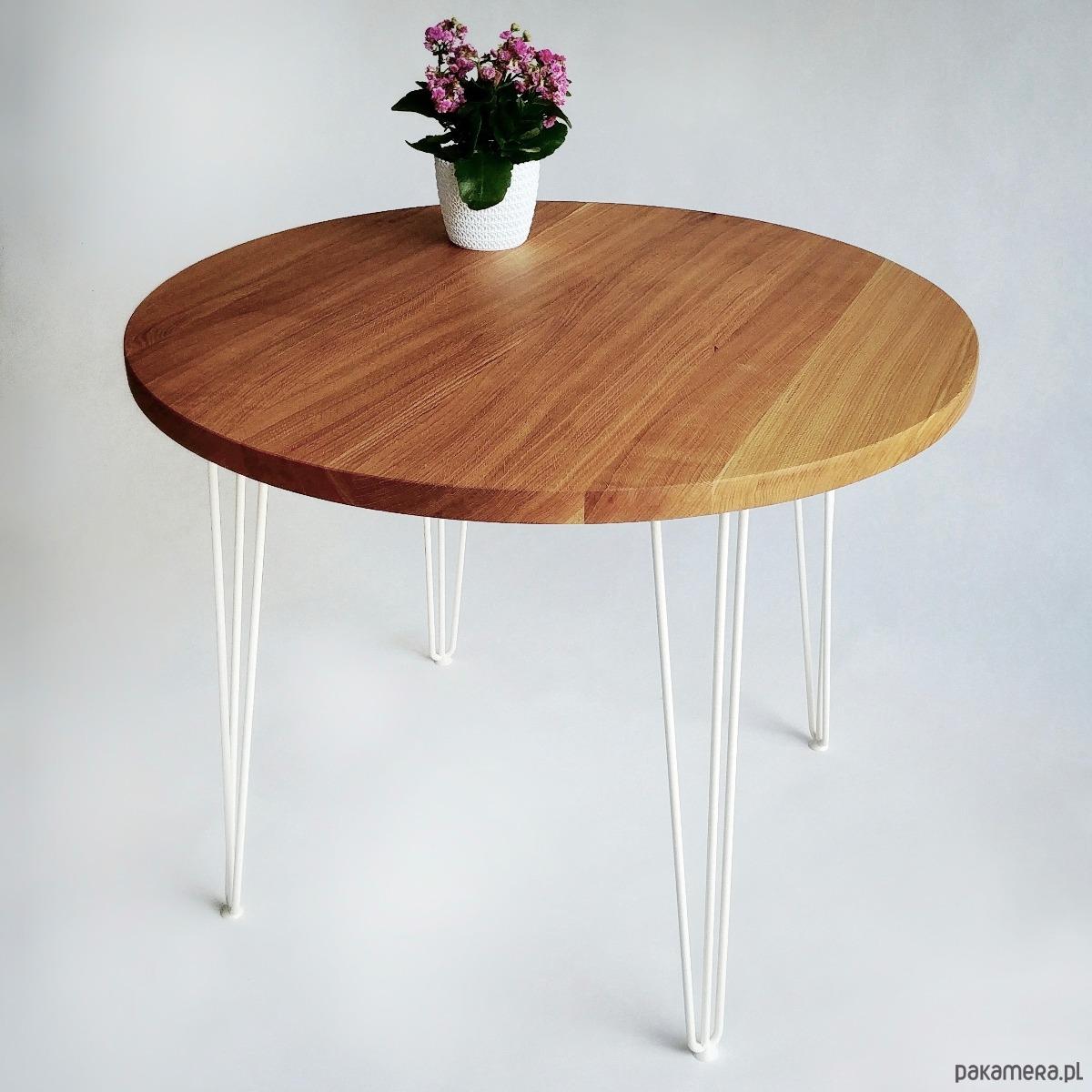Bardzo dobryFantastyczny Okrągły stół dębowy MOKU - meble - stoły i stoliki - stoły GF02