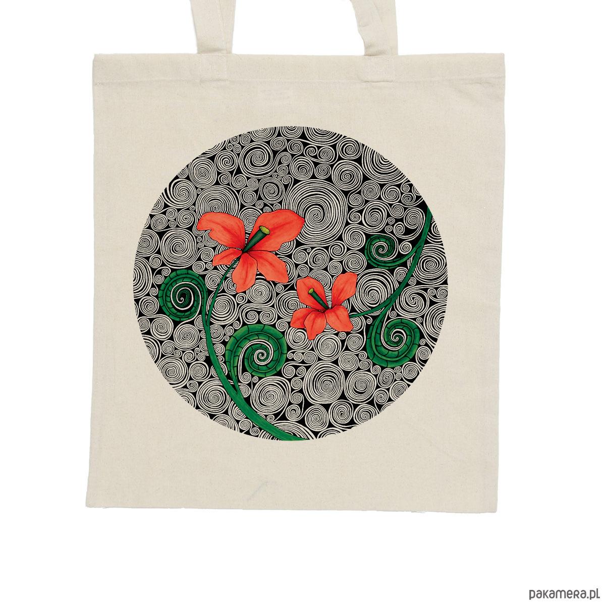 334af0cc231cb Czerwone kwiaty - torba bawełniana ecru - torby na zakupy - unisex -  Pakamera.pl
