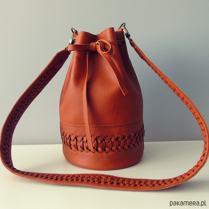 bac6a5dfcbe7d Torebka worek skórzana ruda BAGBOHO - torby na ramię - damskie ...