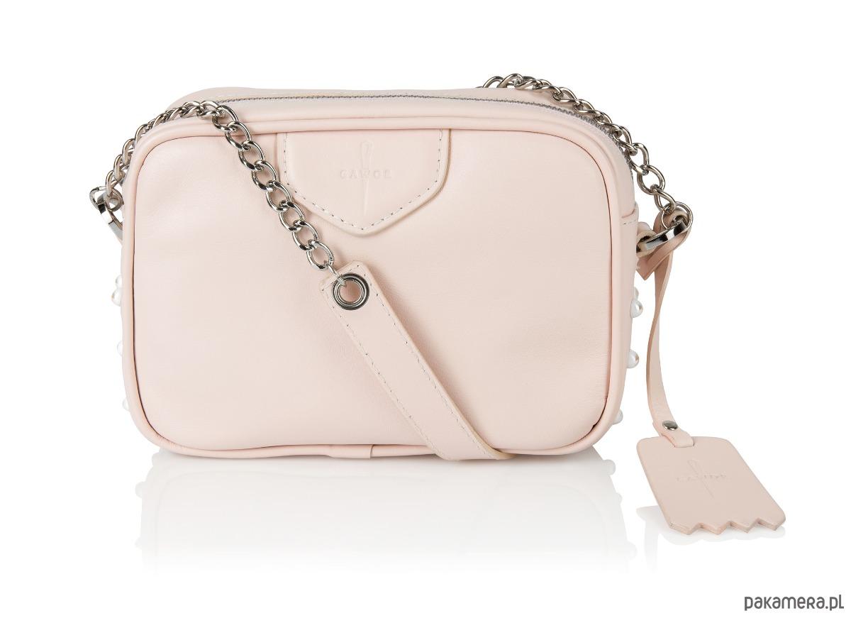 aae79d884d0bc Skórzana listonoszka różowa ozdobne perełki - torebki mini - Pakamera.pl