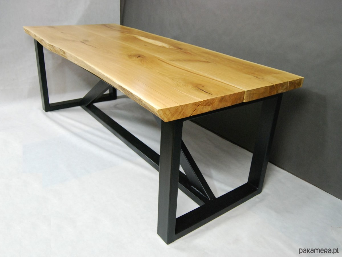 Stół Dębowy Industrialny Unikatowy Loft Meble Stoły I Stoliki