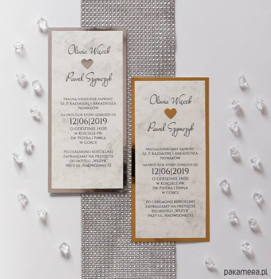 Marmurowe Zaproszenia Z Lustrem ślub Zaproszenia Kartki