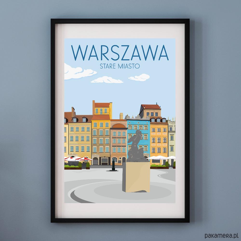Plakat Warszawa Stare Miasto Pakamerapl