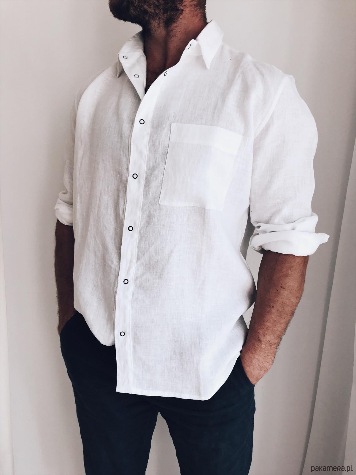 c055180f882cfa koszula męska biała - moda - koszule - Pakamera.pl