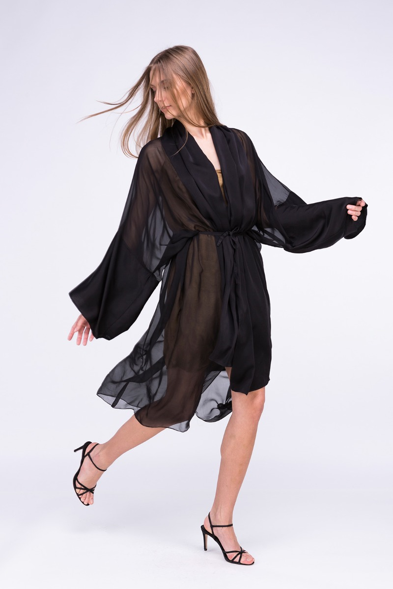 Sukienka-kimono WEZEN Czarna