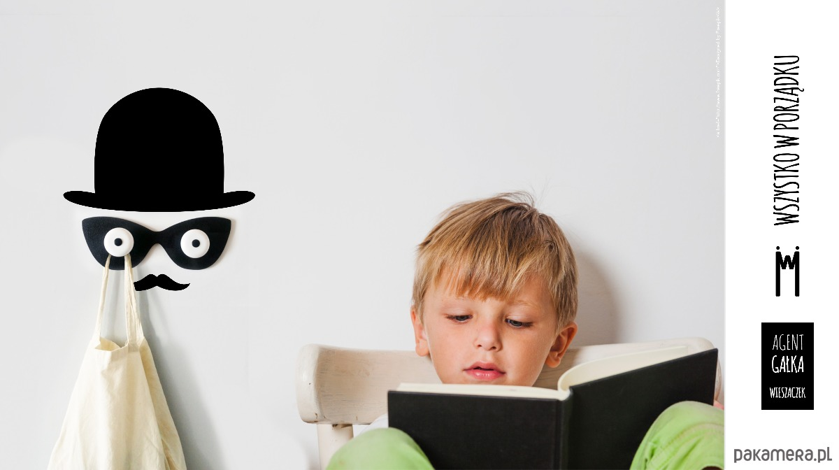 Obraz z AGENT GAŁKA - wieszaczek z naklejką dla dzieci