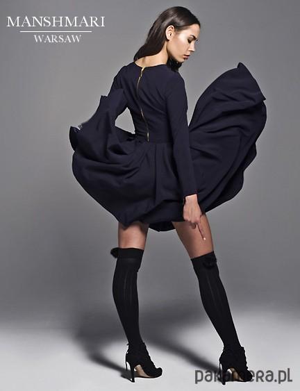 ae1587d176 Sukienka rozkloszowana z długim rękawem - sukienki - różne - Pakamera.pl