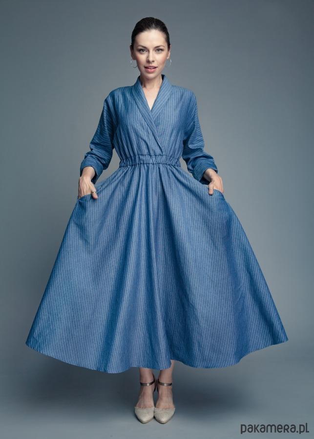 11ce2aa24a Lniana sukienka kimono - sukienki - maxi - Pakamera.pl