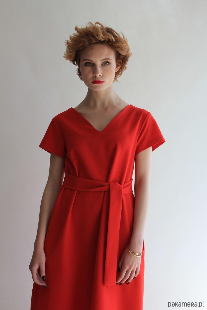 Sukienka SIMPLICITY RED SHORT TRUE COLOR BY ANN