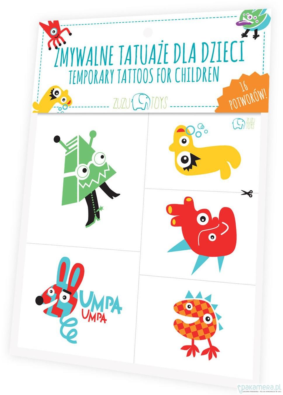 Zmywalne Tatuaże Dla Dzieci Potwory Pakamerapl